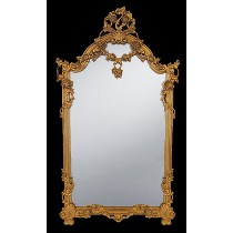 Gold Floral Carved Mirror 153 x 87cm