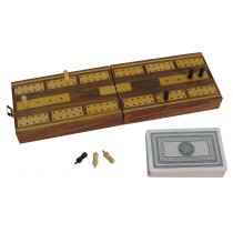 Cribbage Board/Box with Cards/Pegs 12.8cm