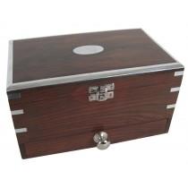 Jewellery Box with Drawer & Mirror 22.5cm