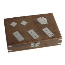 Card, Dice & Dominos Box with Cards 21cm