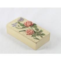 RESIN BOX :FLOWER & BUTTERFLY