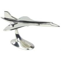 Concorde Plane  on Metal Stand  Nickel Plated Aluminium - 30cm
