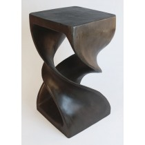 Wooden Double Twist Plant Stand Oak Finish - EX DISPLAY