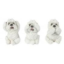 Set Of 3 Dogs - Hear Speak, & See No Evil - 8cm