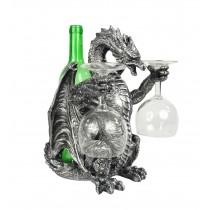 Dragon Wine Bottle & Glass Holder 29.5cm