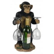 Chimp Wine Bottle & Glass Holder 45.5cm