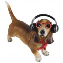 Dachshund Dog With Headphones 31cm