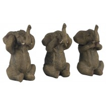 Set Of 3 Elephants - Hear Speak, & See No Evil  - 11.5cm