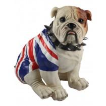 Bulldog Sitting (Union Jack) 39cm