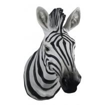 B/W Zebra Head Wall Art 46cm