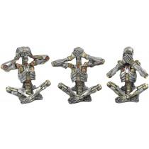 S/3 Hear/Speak/See No Evil Mechanical Skeletons 10.5cm