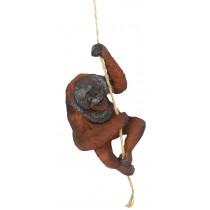 Climbing Orangutan On Rope 28.5cm
