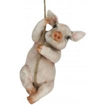 Climbing Pig On Rope 26.5cm