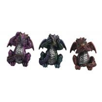 Set Of 3 Dragons - Hear Speak, & See No Evil- 8.5cm
