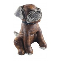 Faux Leather Dog Doorstop - 33cm (Case Price For Case Qty Only)