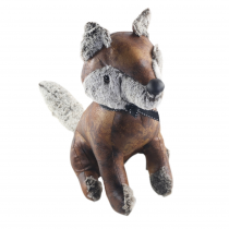 Faux Leather Fox Doorstop - 31cm (Case Price For Case Qty Only)