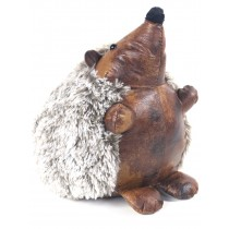 Faux Leather Hedgehog Doorstop - 26cm  (Case Price For Case Qty Only)