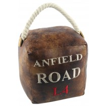 Faux Leather Anfield Road L4 Doorstop