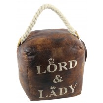 Faux Leather Lord and Lady Doorstop (Case Price for Case Qty Only)