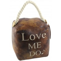 Faux Leather Love Me Do Doorstop (Case Price for Case Qty Only)