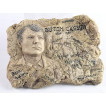 Antique Finish Butch Cassidy Wall Plaque (Min 4)