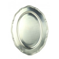 Metal Oval Plate 37cm