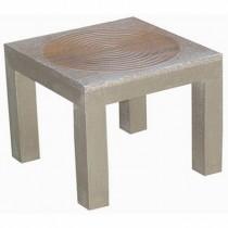 Circle Metal Overlay Side Table