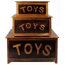 Acacia Lisbon Set/3 Toy Boxes **Ex Display**