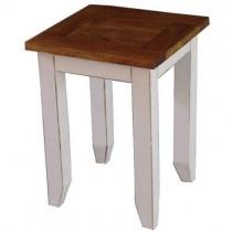 Acacia Lisbon Shabby Chic Lamp Table White - 60cm