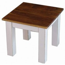 Acacia Lisbon Country Coffee Table 45cm (White)