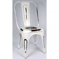 Industrial Metal Chair White (CC ONLY)