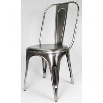 Industrial Metal Chair Nickel