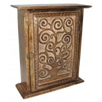 Mango Wood Tree Of Life Design Key Box
