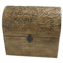 Mango Wood Tree Of Life Design Wine Box (Holds 6)