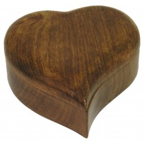 Mango Wood Heart Shaped Box