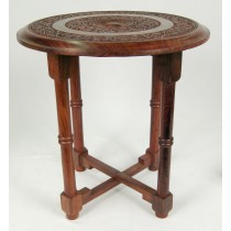 Carved Cross Leg Table