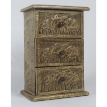 Mango Wood 3 Drawer Elephant Chest
