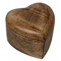 Mango Wood Heart Trinket Box - Small *Batches of 6*