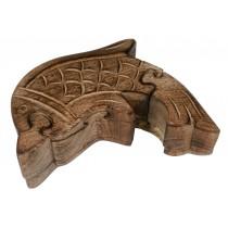 Mango Wood Dolphin Puzzle Box