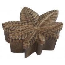 Mango Wood Leaf Shaped Box