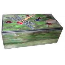 Dragonfly Tiffany Jewellery Box 20cm