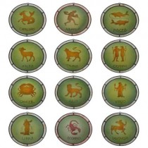 Zodiac Set of 12 Sun Catchers 23.5cm