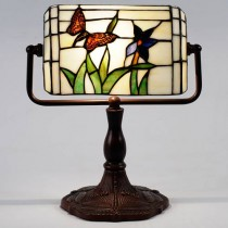 Butterfly Bankers Lamp 33cm