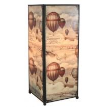 Hot Air Ballons Square Lamp Screen Printed - 27cm
