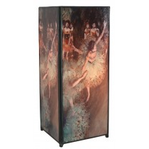Ballet Dancer Square Lamp Screen Printed - 27cm