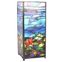 Ocean Square Lamp Screen Printed - 27cm