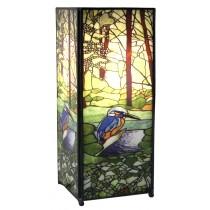Kingfisher Square Lamp Screen Printed - 27cm