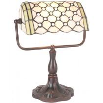 Bankers Lamp - Pearl Design 33cm