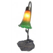 Single Lily Lamp Amber/Green - 40cm