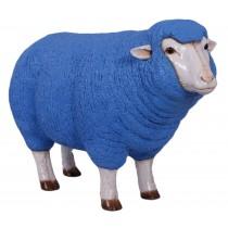 Merino Ewe Head Up - Blue - 105cm
